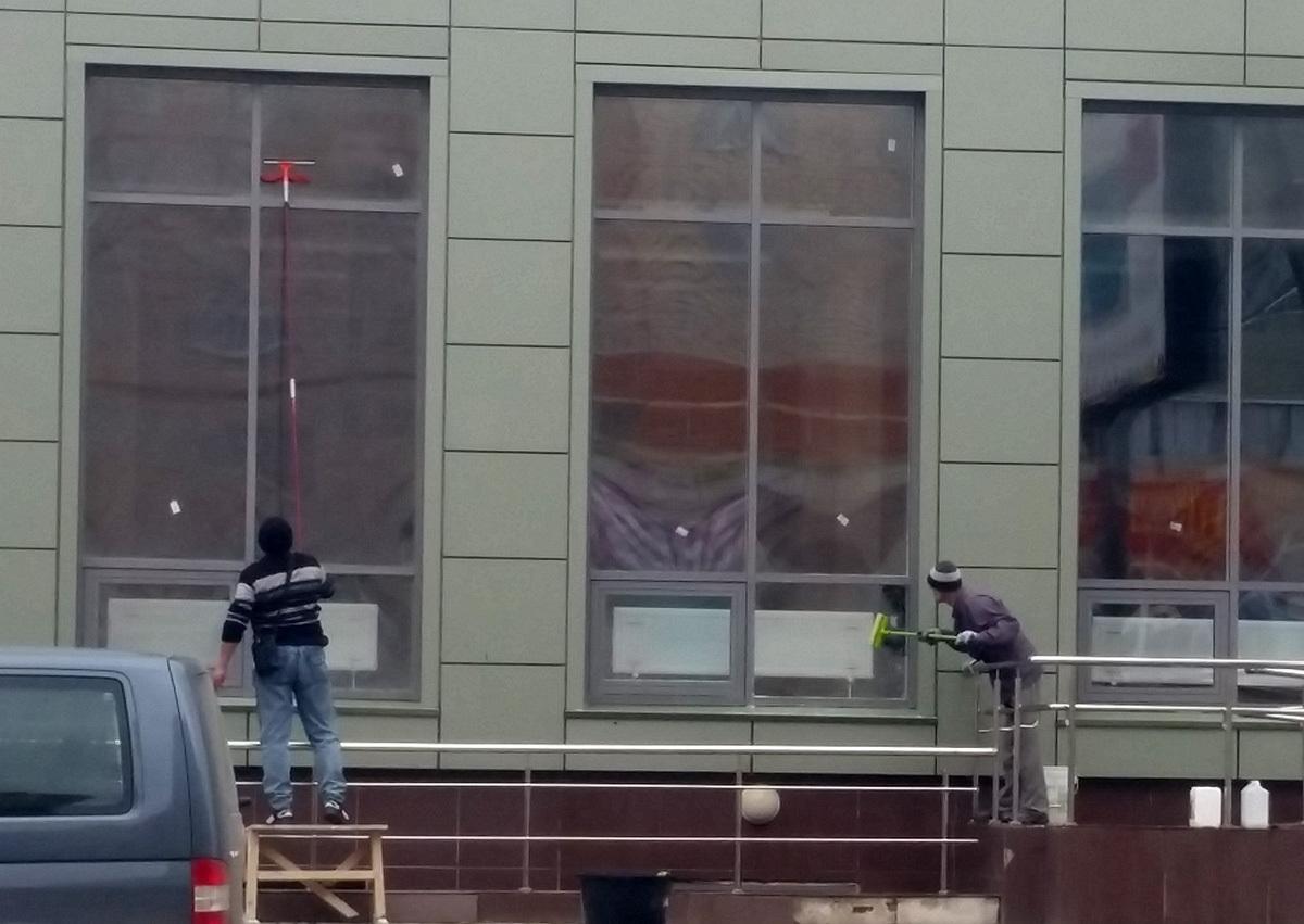 Оказание услуг по мойке фасадов