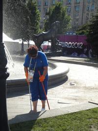 Подведены итоги клинингового обслуживания Фан-Зоны Евро 2012 в Киеве |