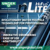 Cleanger демонстрирует Nlite штангу для мойки окон до 20 метров от Unger  |
